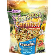 Brown's Tropical Carnival Biscuits Cockatiel Bird Food, 3-lb bag