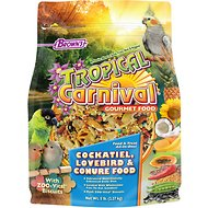 Brown's Tropical Carnival Biscuits Cockatiel Bird Food, 5-lb bag