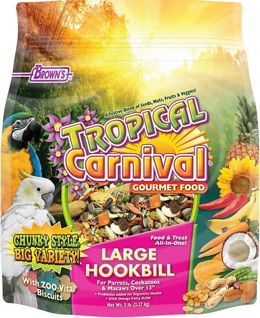 Brown S Tropical Carnival Biscuits Large Hookbill Bird