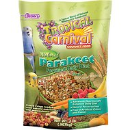 Brown's Tropical Carnival Biscuits Parakeet Bird Food, 2-lb bag