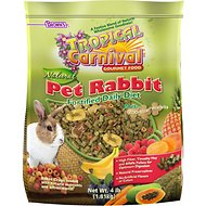 Brown's Tropical Carnival Natural Biscuits Rabbit Food, 4-lb bag