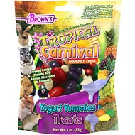 Brown's Tropical Carnival Yogurt Yummies Small Animal Treats, 3-oz bag