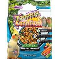Brown's Tropical Carnival ZOO-Vital Cockatiel & Lovebird Bird Food, 2-lb bag