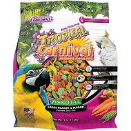 Brown's Tropical Carnival ZOO-Vital Large Parrot & Macaw Bird Food, 3-lb bag