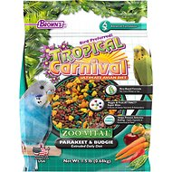 Brown's Tropical Carnival ZOO-Vital Parakeet & Budgie Bird Food, 1.5-lb bag