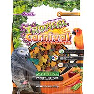 Brown's Tropical Carnival ZOO-Vital Parrot & Conure Bird Food, 2.75-lb bag
