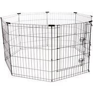 Frisco Dog Exercise Pen with Step-Through Door, Black, 30-inch