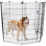 Frisco Dog Exercise Pen with Step-Through Door, Black, 48-in