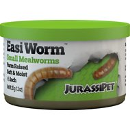 JurassiPet JurassiDiet EasiWorm Small Mealworms Reptile Food, 1.2-oz can