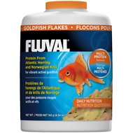 Fluval Multi Protein Formula Goldfish Flake Fish Food, 4.9-oz  jar