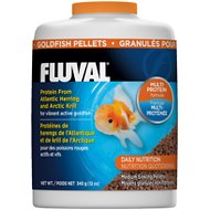 Fluval Multi Protein Formula Goldfish Pellet Fish Food, 12-oz jar