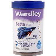 Wardley Blue Color Intensifier Betta Fish Food, 1.2-oz jar