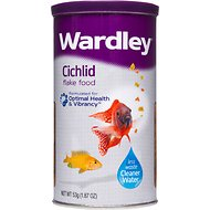 Wardley Cichlid Flake Fish Food, 1.87-oz jar