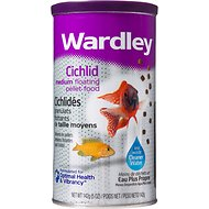 Wardley Cichlid Floating Pellet Fish Food, 5-oz jar