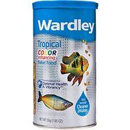 Wardley Color Enhancing Flake Tropical Fish Food, 1.95-oz jar