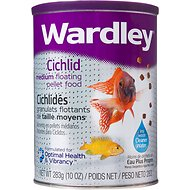 Wardley Cichlid Medium Floating Pellet Fish Food, 10-oz jar
