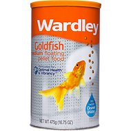 Wardley Goldfish Medium Floating Pellet Fish Food, 16.75-oz jar