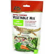 Zilla Reptile Munchies Vegetable Mix with Calcium Lizard Food, 4-oz bag
