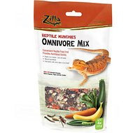 Zilla Reptile Munchies Omnivore Mix Lizard Food, 2.5-oz bag