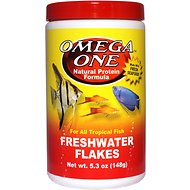 Omega One Freshwater Flakes Tropical Fish Food, 5.3-oz jar