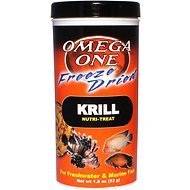 Omega One Freeze-Dried Krill Freshwater & Marine Fish Treat, 1.8-oz jar