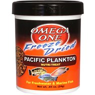 Omega One Freeze-Dried Pacific Plankton Freshwater & Marine Fish Treat, .85-oz jar
