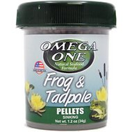 Omega One Frog & Tadpole Sinking Pellets Food, 1.2-oz jar