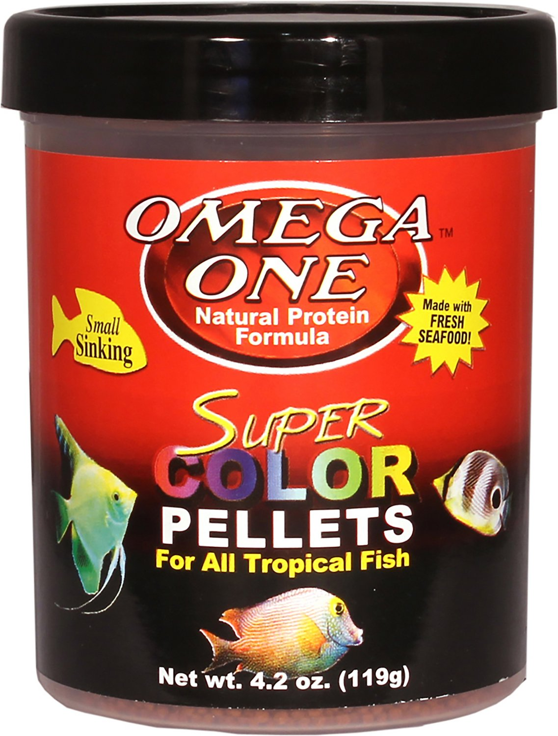Omega one super color sinking pellets tropical fish food for Omega one fish food