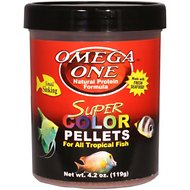 Omega One Super Color Sinking Pellets Tropical Fish Food, 4.2-oz jar