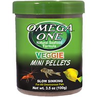 Omega One Veggie Slow Sinking Mini Pellets Fish Food, 3.5-oz jar