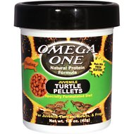 Omega One Juvenile Turtle Floating Pellets Food, 1.5-oz jar