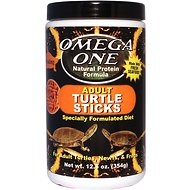 Omega One Adult Turtle Floating Sticks Food, 12.5-oz jar