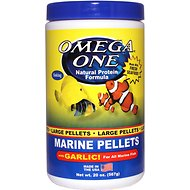 Omega One Large Marine Pellets with Garlic Fish Food, 20-oz jar