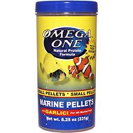 Omega One Small Marine Pellets with Garlic Fish Food, 8.25-oz jar