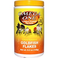 Omega One Protein Enhanced Goldfish Flakes Fish Food, 5.3-oz jar