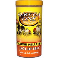 Omega One Large Sinking Goldfish Pellets Fish Food, 7.5-oz jar