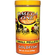 Omega One Small Sinking Goldfish Pellets Fish Food, 8-oz jar