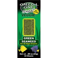 Omega One Super Veggie Green Seaweed Algae Grazer Fish Food, 24-sheets