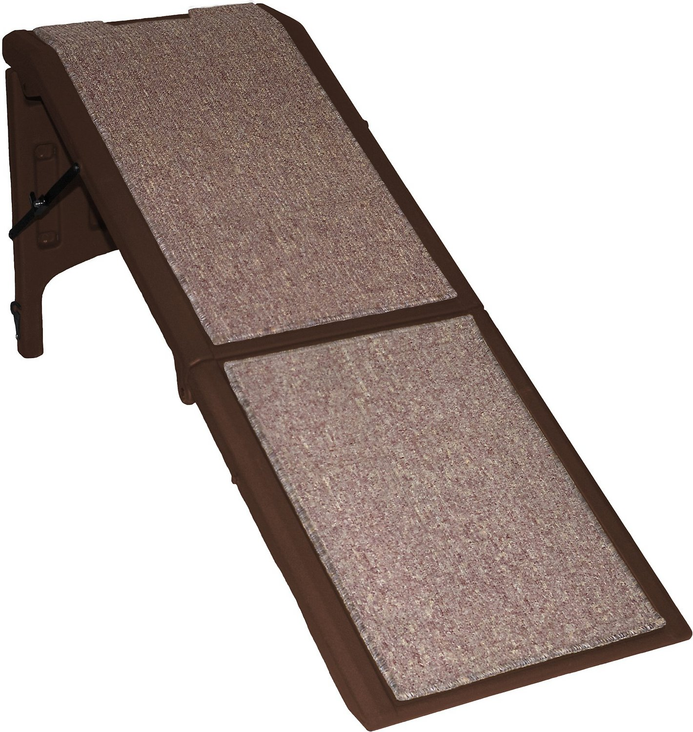 Pet Gear Extra Wide Free Standing Chocolate Pet Ramp