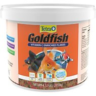 TetraFin Goldfish Flakes Fish Food, 4.52-lb bucket
