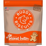 Buddy Biscuits Original Oven Baked with Peanut Butter Dog Treats, 3.5-lb bag