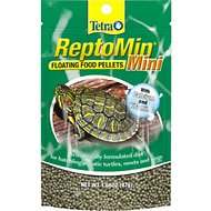 Tetra ReptoMin Mini Floating Pellets Turtle & Amphibian Food, 1.66-oz bag