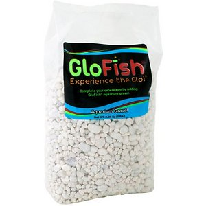 """GloFish Fluorescent Aquarium Gravel, White Frost, 5-lb bag; Want a tank that stands out from the rest? GloFish aquarium gravel and gravel accents are brightly colored gravels that help create an amazing-looking tank when combined with your fluorescent fish and blue LED lights. Available in a variety of colors, this gravel is great as a stand-alone base in your tank or used as gravel accents. Your friends and family will """"ooh"""" and """"ahh"""" when you have a GloFish aquarium."""