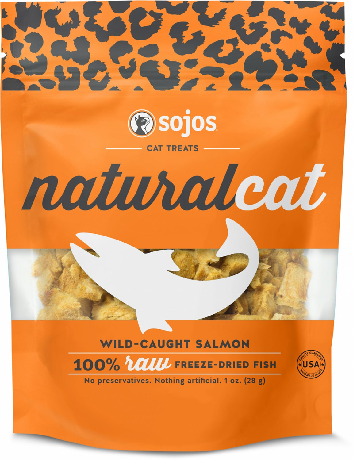 Sojos Naturalcat Wild Caught Salmon Freeze Dried Cat Treats 1 Oz