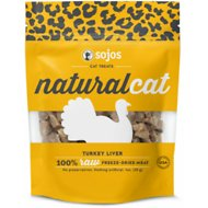 Sojos NaturalCat Turkey Liver Freeze-Dried Cat Treats, 1-oz bag