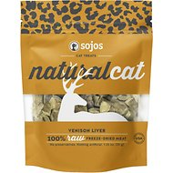 Sojos NaturalCat Venison Liver Freeze-Dried Raw Cat Treats, 1.25-oz bag