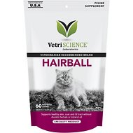 VetriScience Hairball Bite-Sized Cat Chews, 60 count