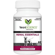 VetriScience Renal Essentials Kidney Health Support Dog Tablets, 60 count