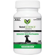 VetriScience Canine Plus Senior Multivitamin Everyday Health Dog Tablets, 60 count