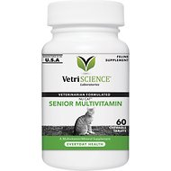 VetriScience NuCat Senior Multivitamin Everyday Health Bite-Sized Cat Tablets, 60 count